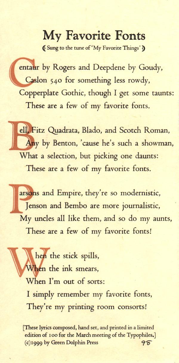Lyric lyrics to something : GDP : My Favorite Fonts